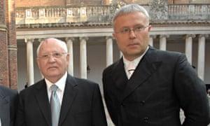 Mikhail Gorbachev and Alexander Lebedev