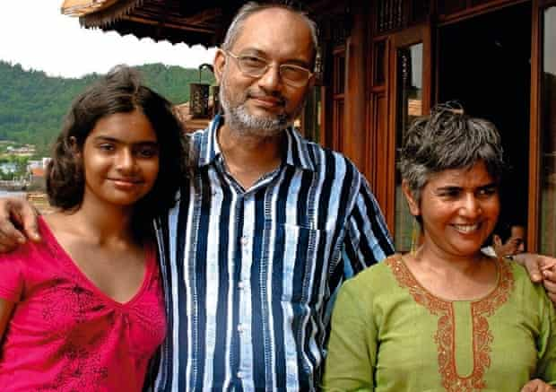 missing MH370 passenger Chandrika Sharma, with husband KSNarendran and their daughter Meghna