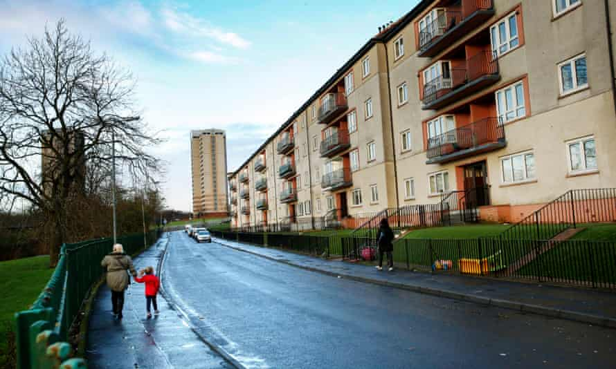 Cranhill built in the early 1950s on the outskirts of Glasgow