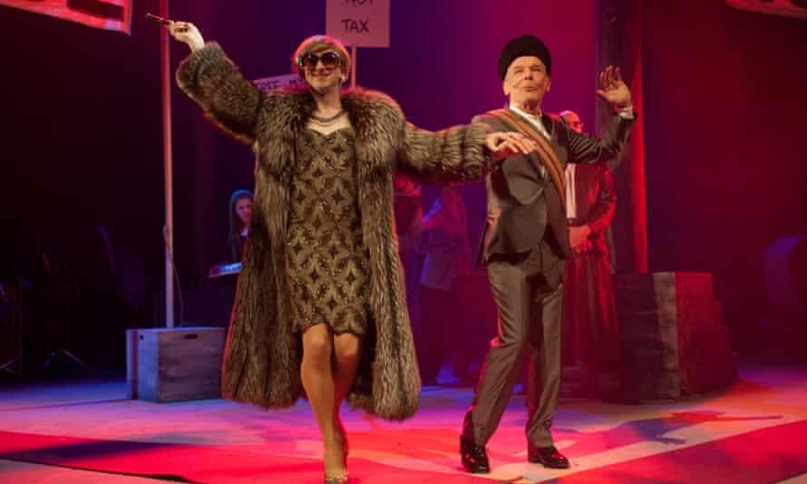 Standout performances … Jon Trenchard as the Governor's Wife and Christopher Fairbank as Georgi Abashvili.
