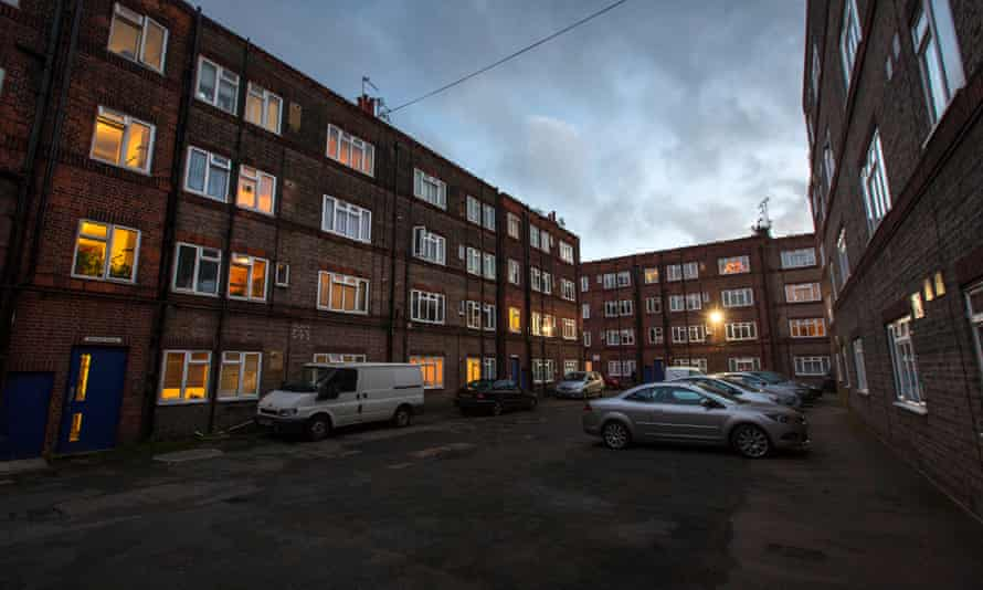 The New Era housing estate in Hoxton, east London