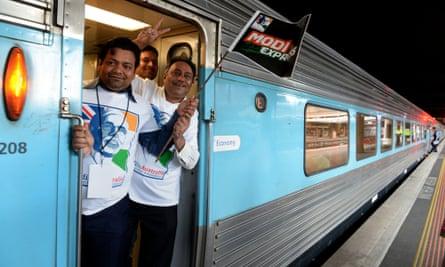Modi supporters travel to Sydney visit
