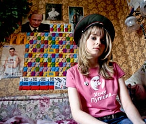 """<strong>Yulia Minazhetdinova: """"</strong><strong>Putin is my hero, he inspires me, adds science to my actions.</strong><strong> I have many things with his image: pins, several t-shirts, a screensaver.""""</strong>"""