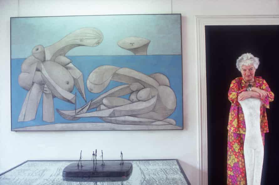 September 1978:  Peggy Guggenheim (1898 - 1979) in the Palazzo Venier Dei Leoni, Venice.