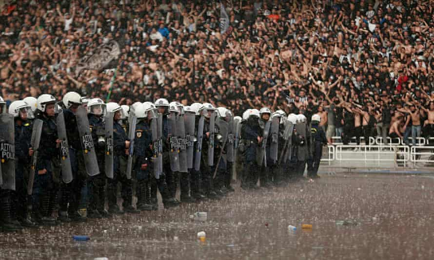 Police at the Greek Cup Final in 2014