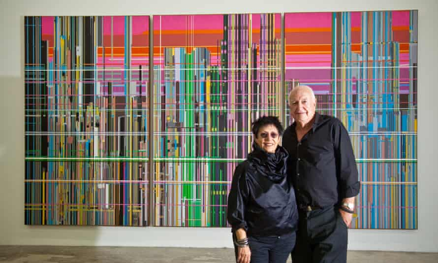 """Mera and Don Rubell stand before Liberation No. 1,"""""""