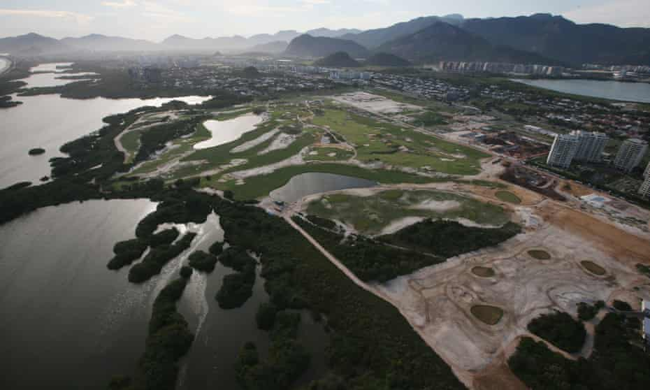 The golf course for the Rio 2016 Olympic Games in the Barra da Tijuca neighbourhood, pictured this week.