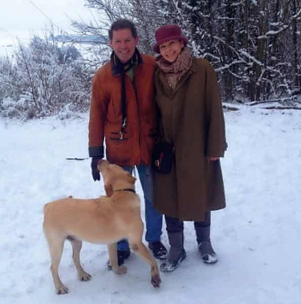 Caroline Lucas with her husband Richard