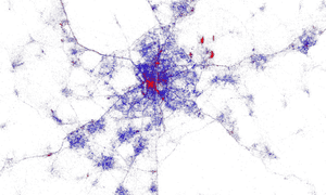 Madrid tourist heat map