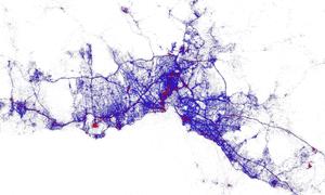 Istanbul tourist heat map