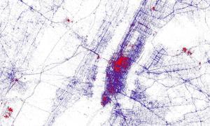 New York tourist heat map