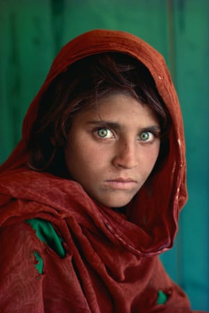 The image of Sharbat Gula that featured of the cover of National Geographic magazine in 1984