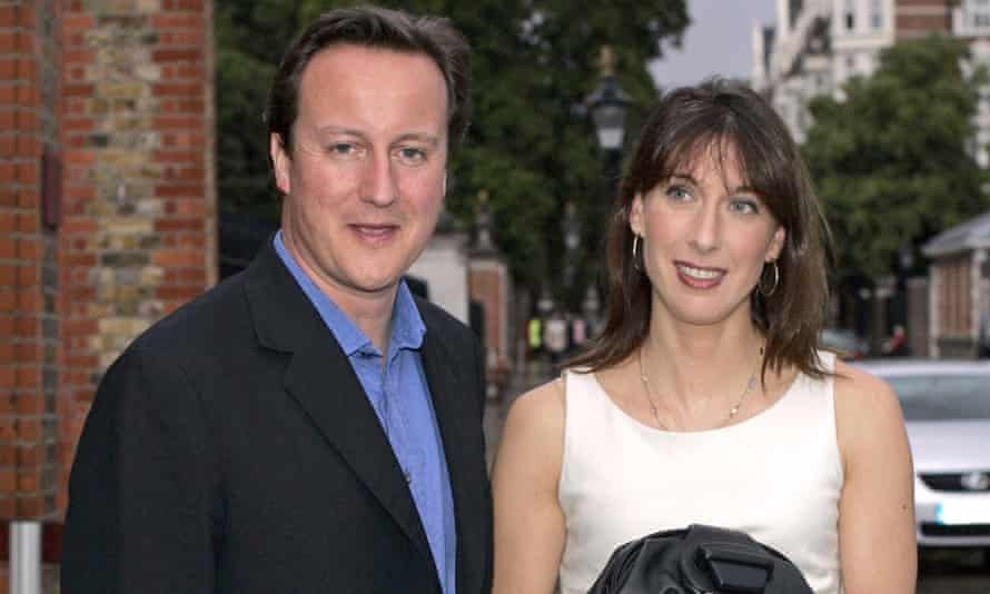 David Cameron and his wife Samantha at the Conservative annual summer party.