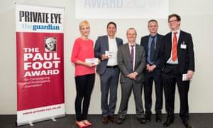 Paul Foot Award 2014 winners