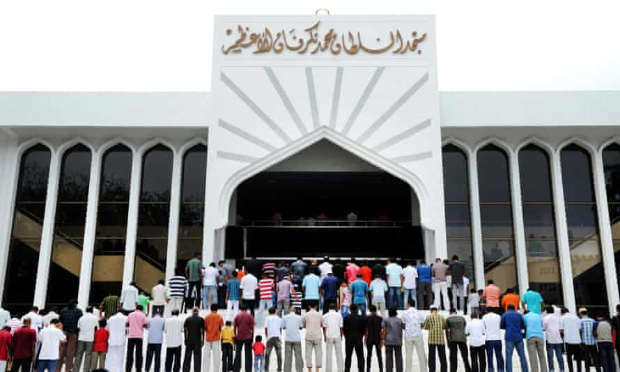 Muslims attend Friday prayers in Malé.