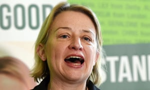 Green Party leader Natalie Bennett delivers a speech at a Green Party manifesto launch
