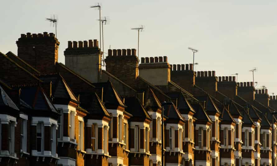 Row of terraced homes in London