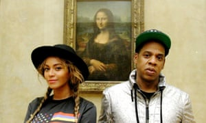 Beyoncé, Jay Z and the Mona Lisa.