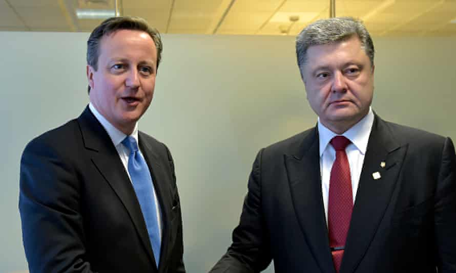 David Cameron, Petro Poroshenko
