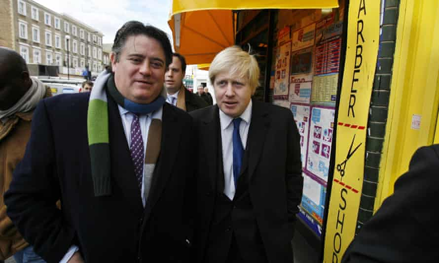 Stephen Greenhalgh with Boris Johnson in Shepherds Bush.