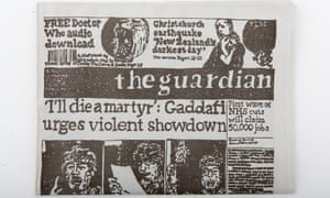 Hand-drawn Guardian: about 3,000 copies were distributed