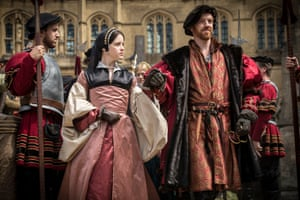 Wolf Hall: Anne Boleyn (Claire Foy) becomes queen to King Henry VIII (Damian Lewis).