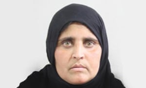 Sharbat Gula's photograph on her Pakistani national ID card. As an Afghan refugee she is officially not entitled to hold such a document