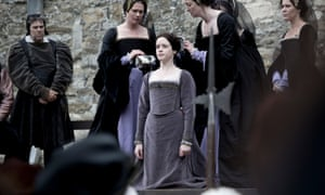 Claire Foy's Anne Boleyn prepares to get the chop in Wolf Hall.