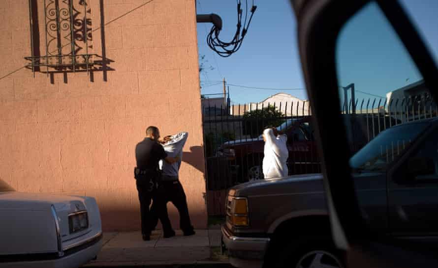 LAPD Gang Unit checks.