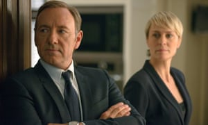 Data difference …  Kevin Spacey and Robin Wright in Netflix drama, House of Cards. Video streaming services hog bandwidth .