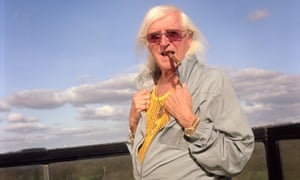 Jimmy Savile in his Leeds penthouse.
