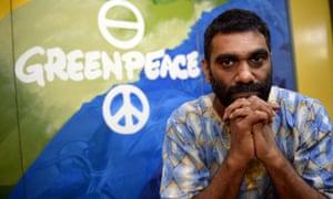 Kumi Naidoo, of south Africa and international executive director of Greenpeace