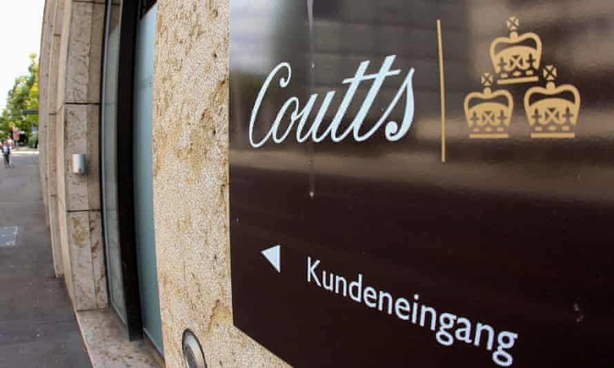 clients entrance of Coutts bank in Zurich, Switzerland