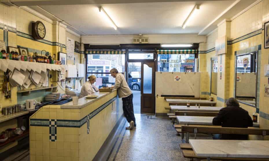 F Cooke's Pie & Mash shop on Broadway Market, Hackney.