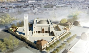 Marseille's grand mosque render