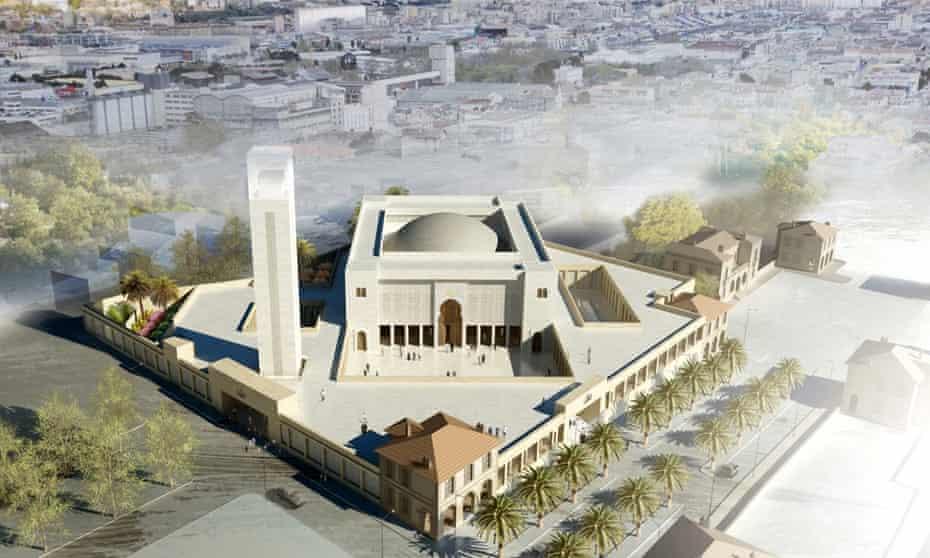 Marseille's grand mosque render