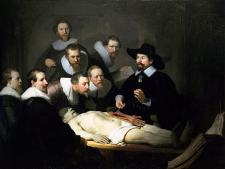 In earlier times: The Anatomy Lesson of Dr Nicolaes Tulp, 1632, by Rembrandt van Rhijn.