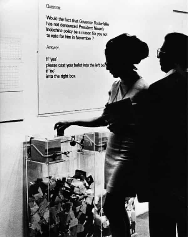 MoMA Poll, 1970. Hans Haacke
