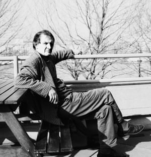 Tony Harrison on the South Bank, London, 1990.