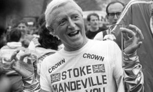 Jimmy Savile in 1981 at Stoke Mandeville hospital,