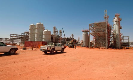 Gas field, jointly operated by BP, Sonatrach and Statoil, at In Amenas, close to the Algerian border with Libya.