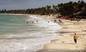 A beach near Dar es Salaam, Tanzania.