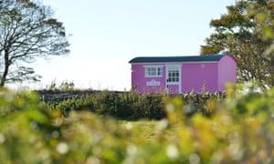 Shepherd's Hut, aka the Pink Hut, Llangaffo, Wales