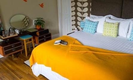 A bedroom at Geufron Hall, Llangollen, Denbighshire