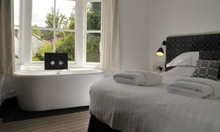 A room at Manorhaus, Llangollen, Denbighshire