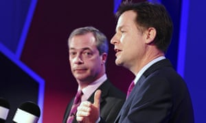 Ukip leader Nigel Farage and his Lib Dem counterpart Nick Clegg