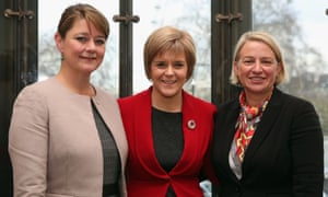 L to R: The leaders of Plaid Cymru, Leanne Wood, the SNP, Nicola Sturgeon, and the Greens, Natalie Bennett