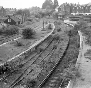 An absence of trains Cowes Station, Isle of Wight, August 1970 - after four and half years of closure