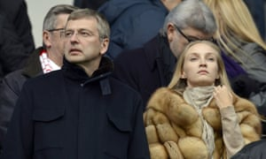 The Russian oligarch Dmitry Rybolovlev at a match of Monaco football club, which he owns.
