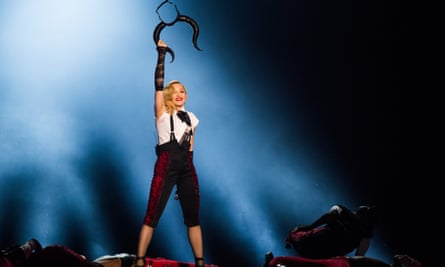 Madonna performs at the Brit awards 2015 in London on Wednesday